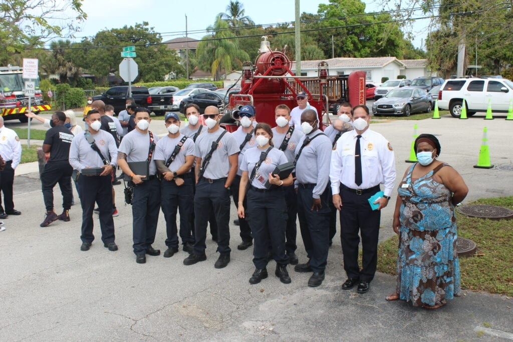 Civic groups honor first responders for a year of COVID-19 service
